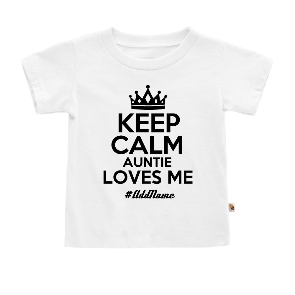 Teezbee.com - Keep Calm Auntie Loves Me - Kids-T (White)