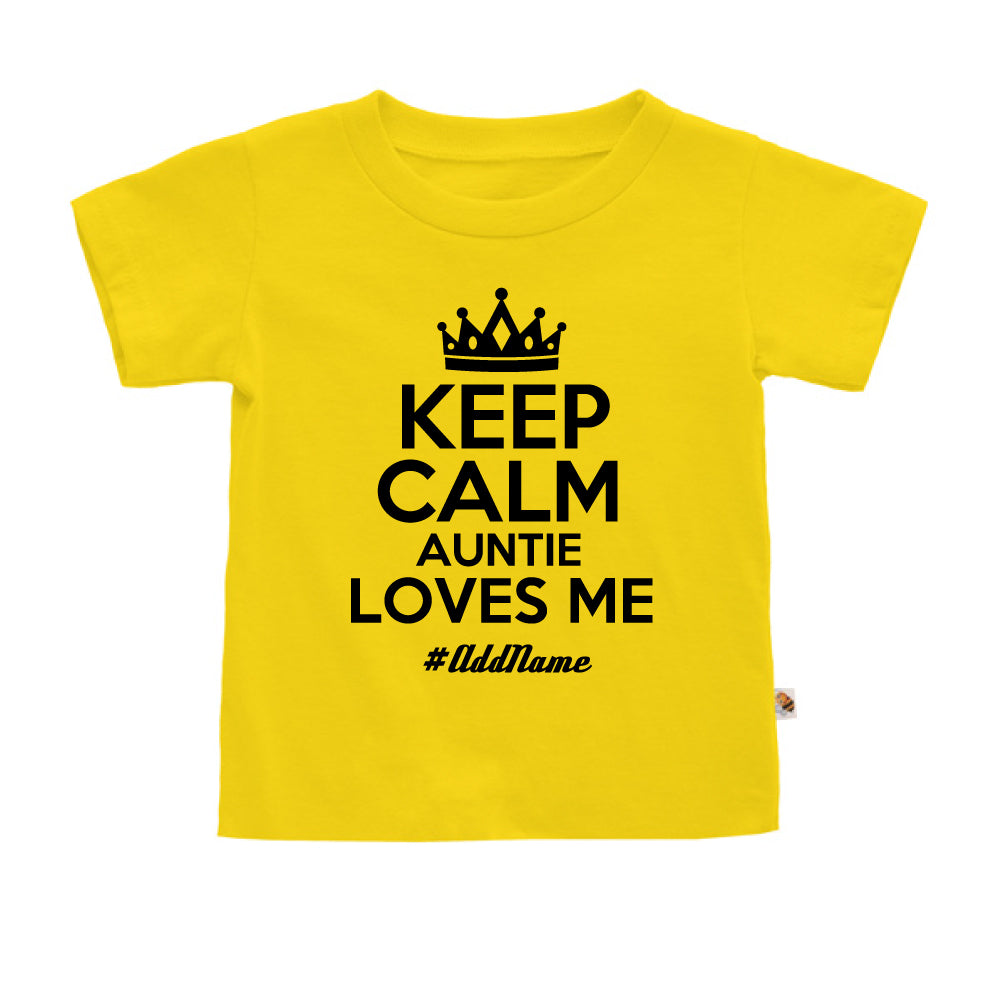 Teezbee.com - Keep Calm Auntie Loves Me - Kids-T (Yellow)