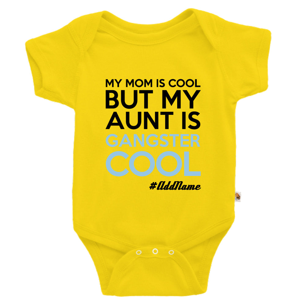 Teezbee.com - Gangster Cool Aunt - Romper (Yellow)