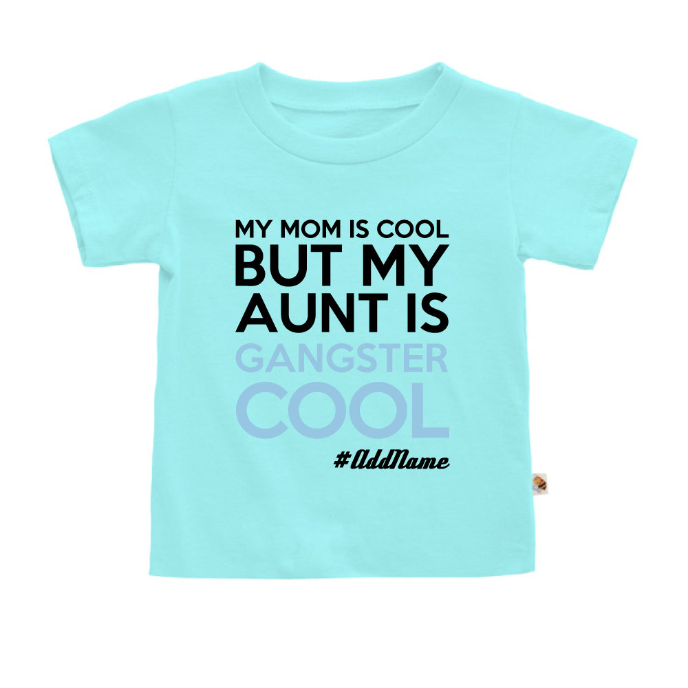 Teezbee.com - Gangster Cool Aunt - Kids-T (Light Blue)
