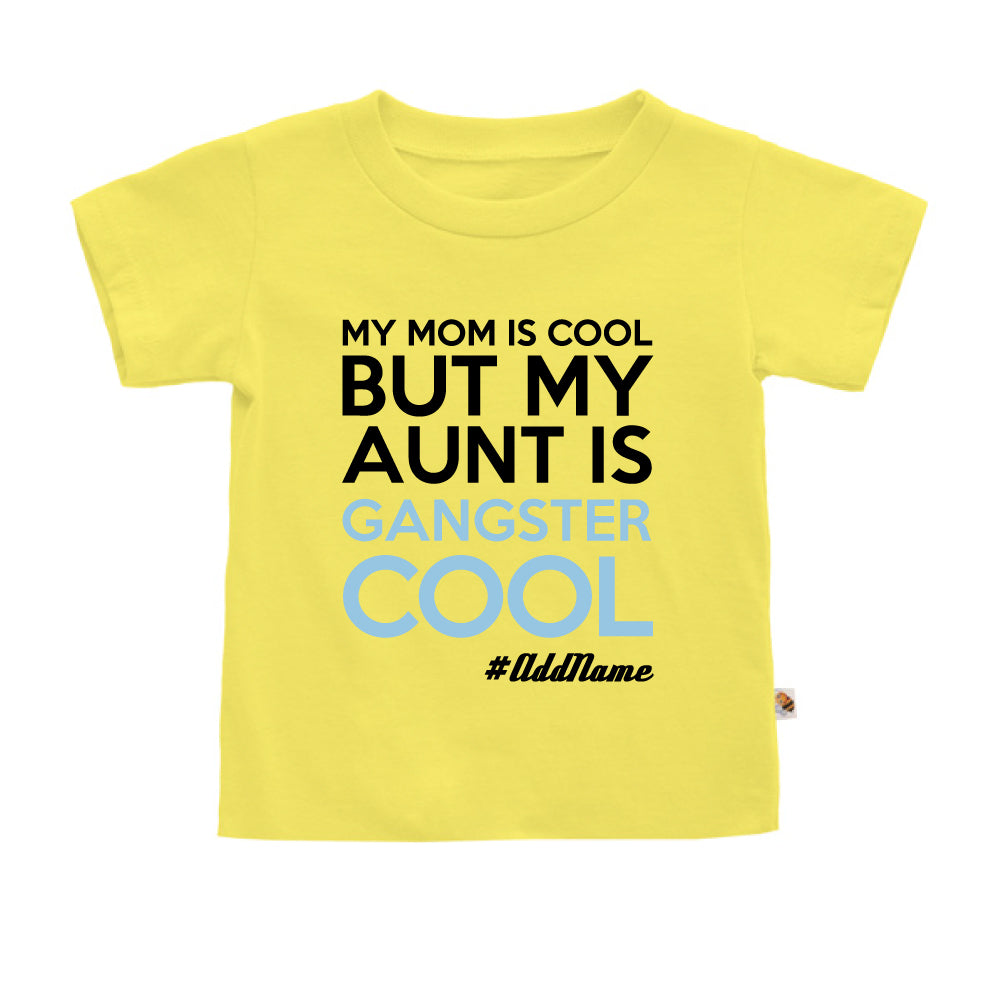 Teezbee.com - Gangster Cool Aunt - Kids-T (Light Yellow)
