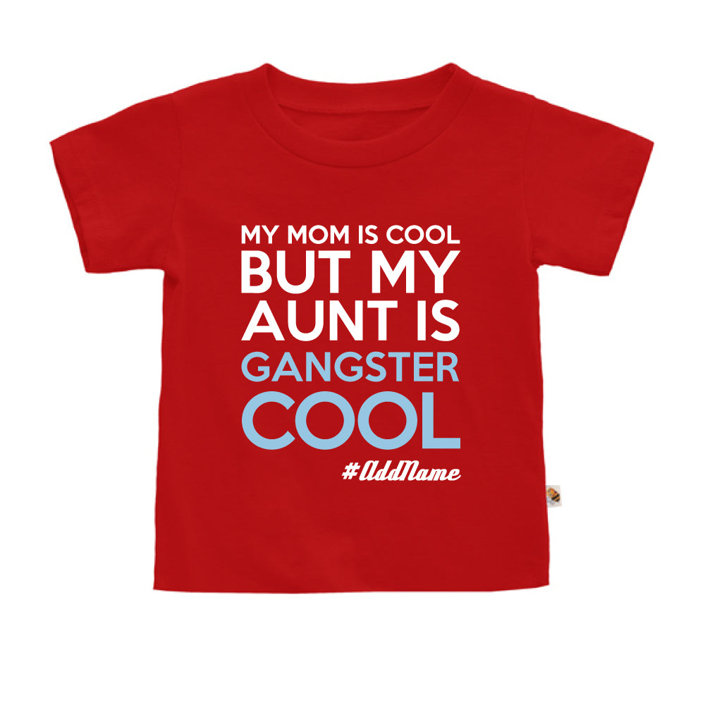 Teezbee.com - Gangster Cool Aunt - Kids-T (Red)