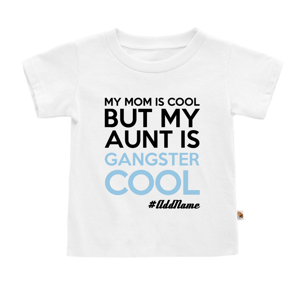 Teezbee.com - Gangster Cool Aunt - Kids-T (White)
