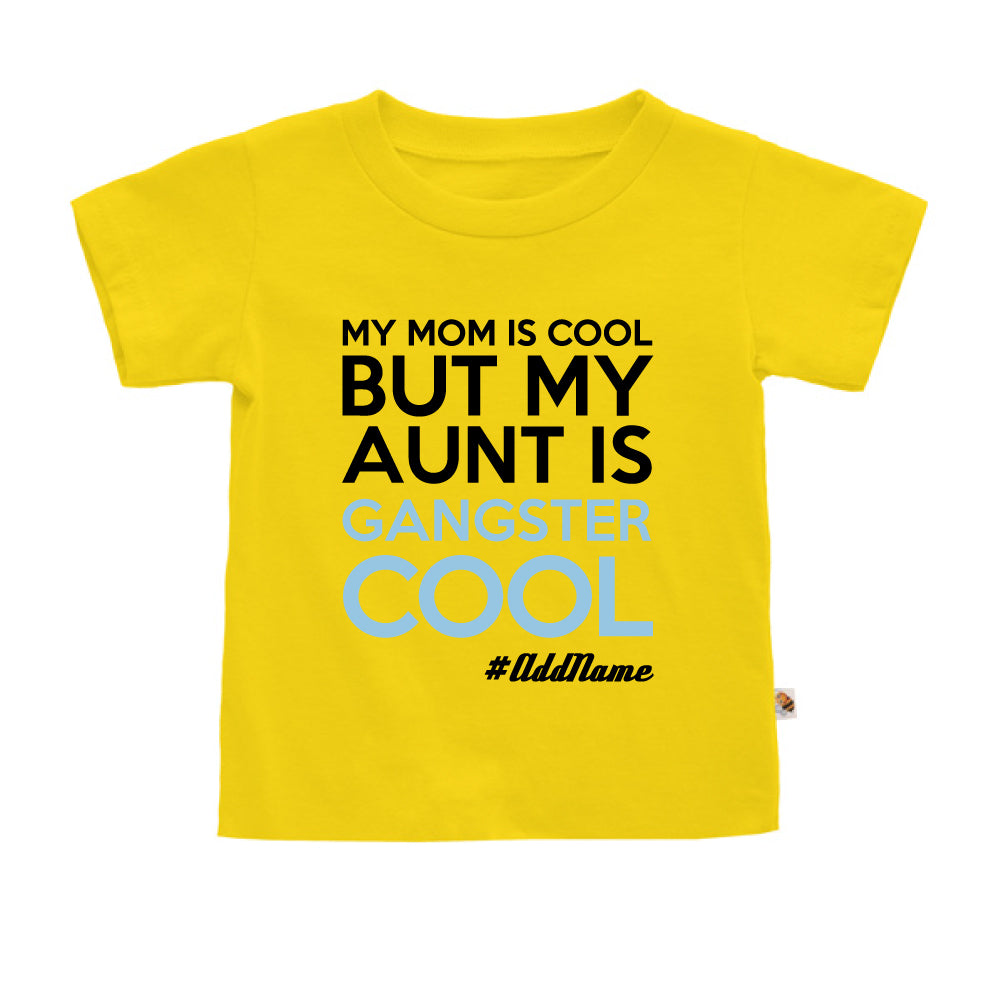 Teezbee.com - Gangster Cool Aunt - Kids-T (Yellow)