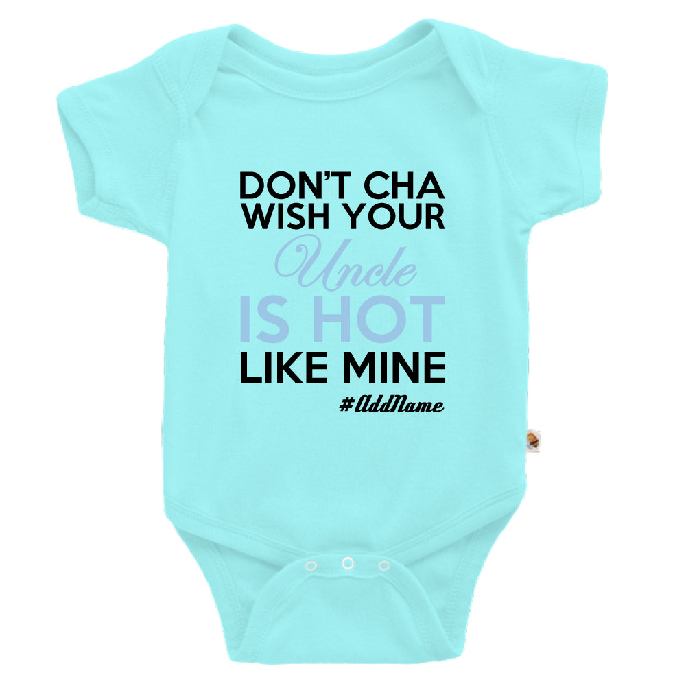 Teezbee.com - My Uncle is Hot - Romper (Light Blue)
