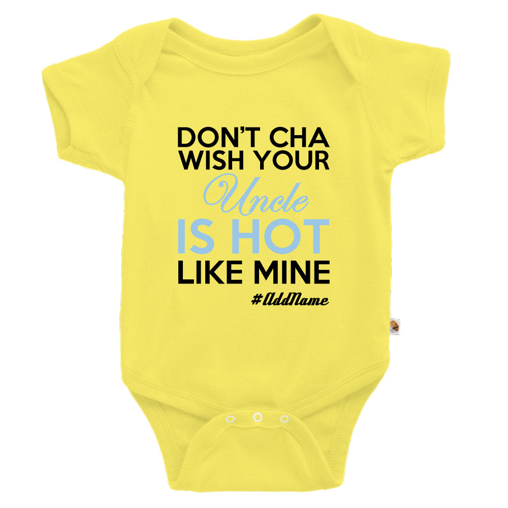 Teezbee.com - My Uncle is Hot - Romper (Light Yellow)