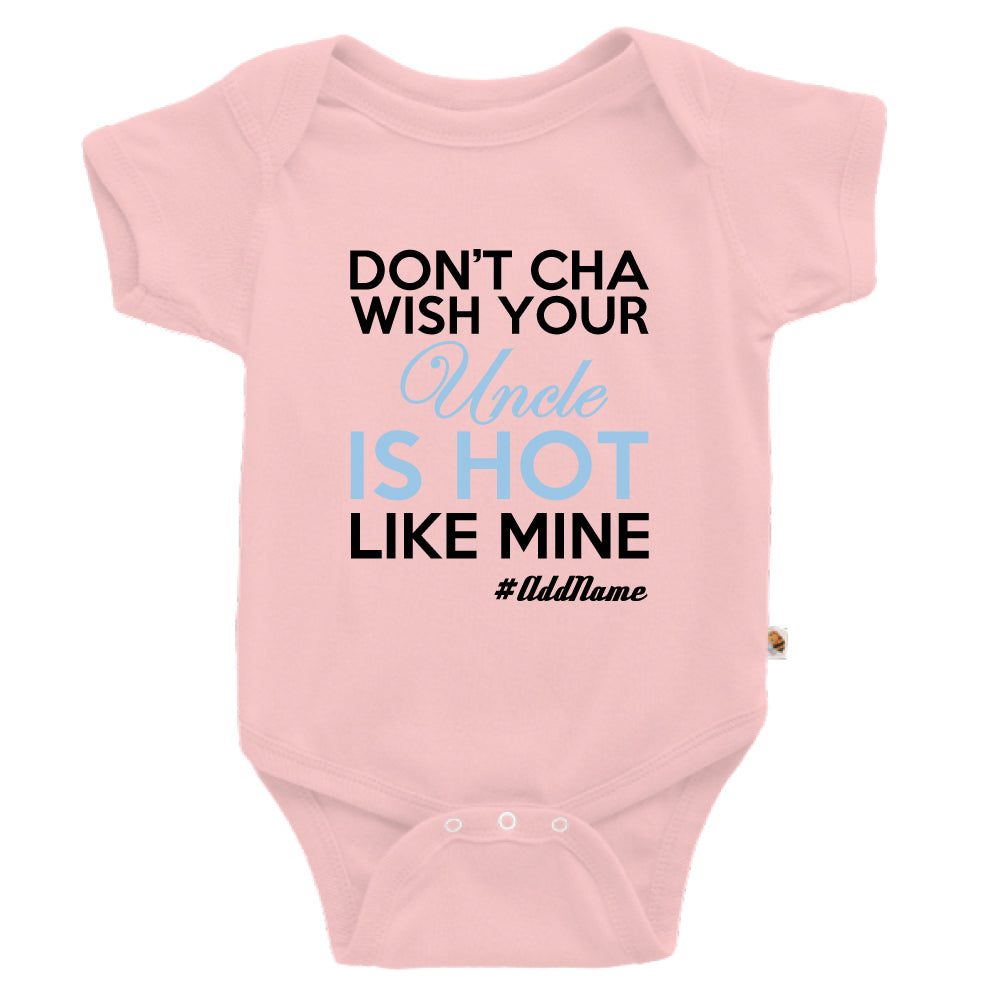 Teezbee.com - My Uncle is Hot - Romper (Pink)