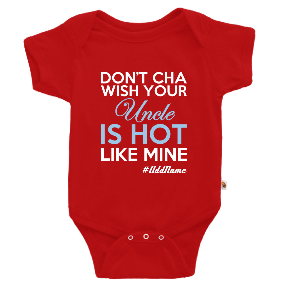 Teezbee.com - My Uncle is Hot - Romper (Red)