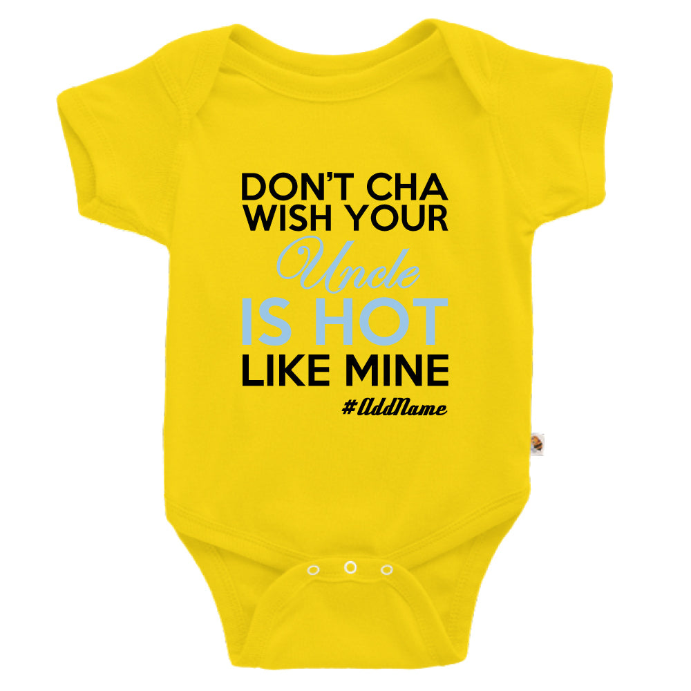 Teezbee.com - My Uncle is Hot - Romper (Yellow)