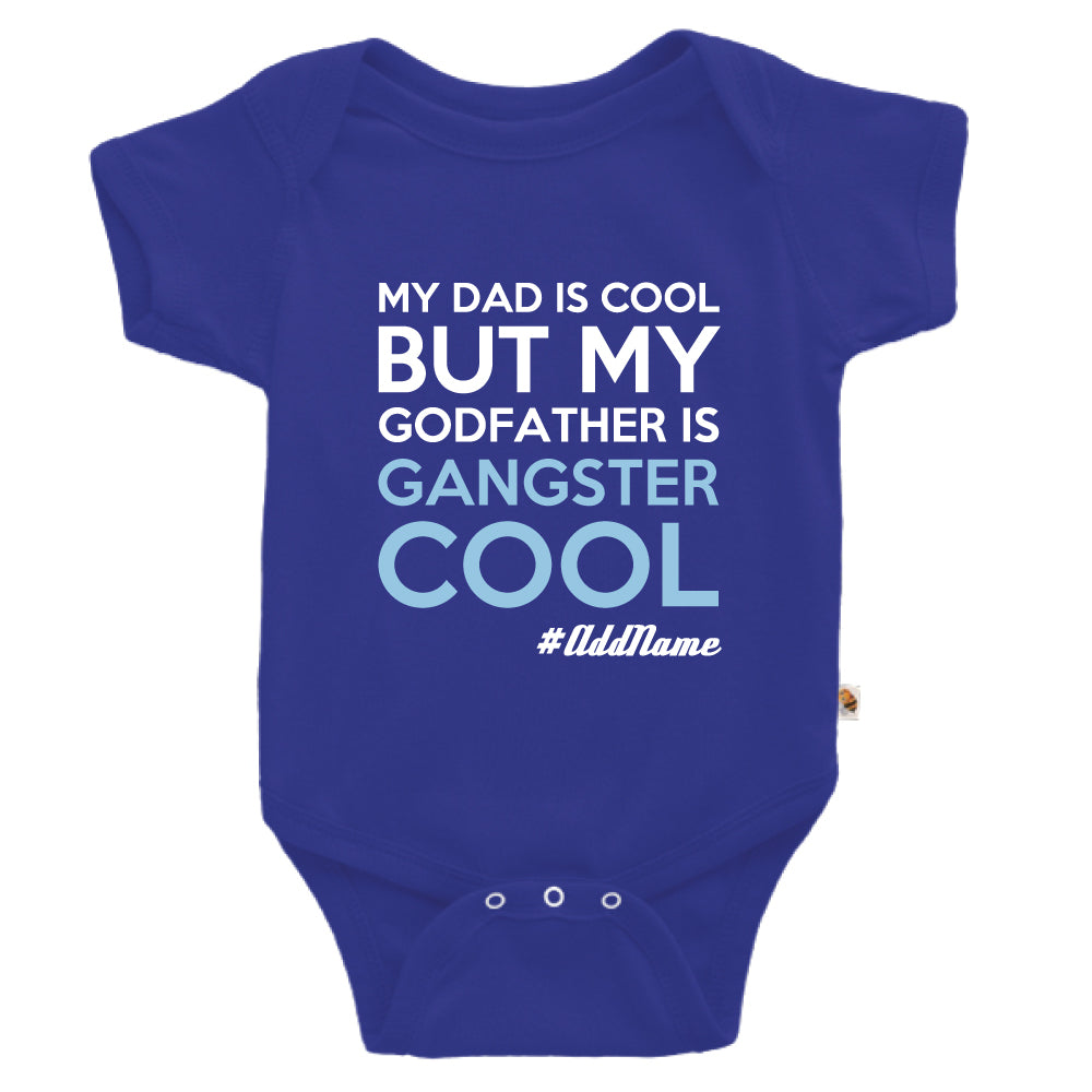 Teezbee.com - Gangster Cool Godfather - Romper (Blue)