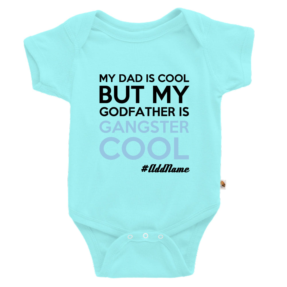 Teezbee.com - Gangster Cool Godfather - Romper (Light Blue)