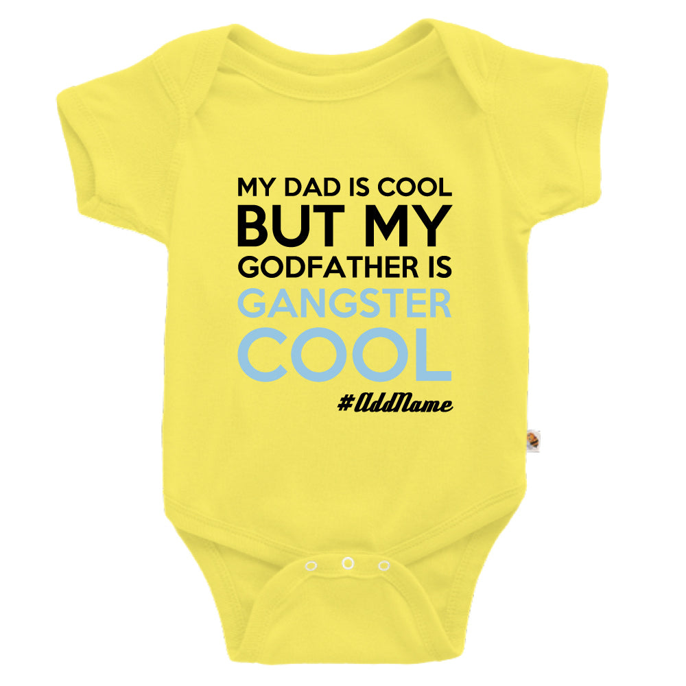 Teezbee.com - Gangster Cool Godfather - Romper (Light Yellow)
