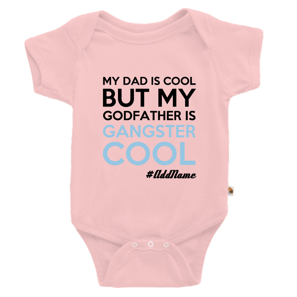 Teezbee.com - Gangster Cool Godfather - Romper (Pink)
