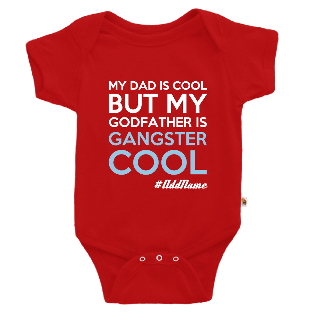 Teezbee.com - Gangster Cool Godfather - Romper (Red)