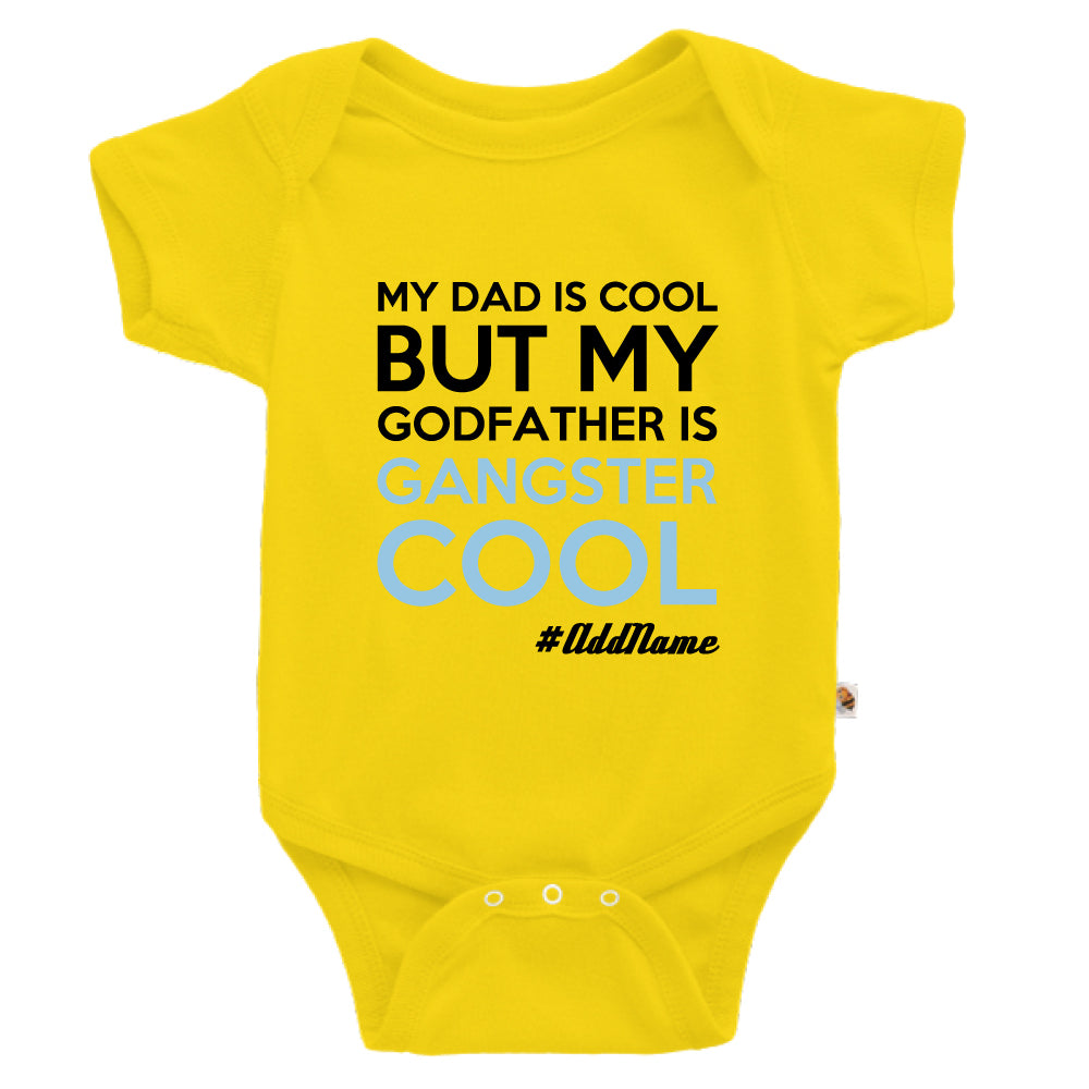 Teezbee.com - Gangster Cool Godfather - Romper (Yellow)