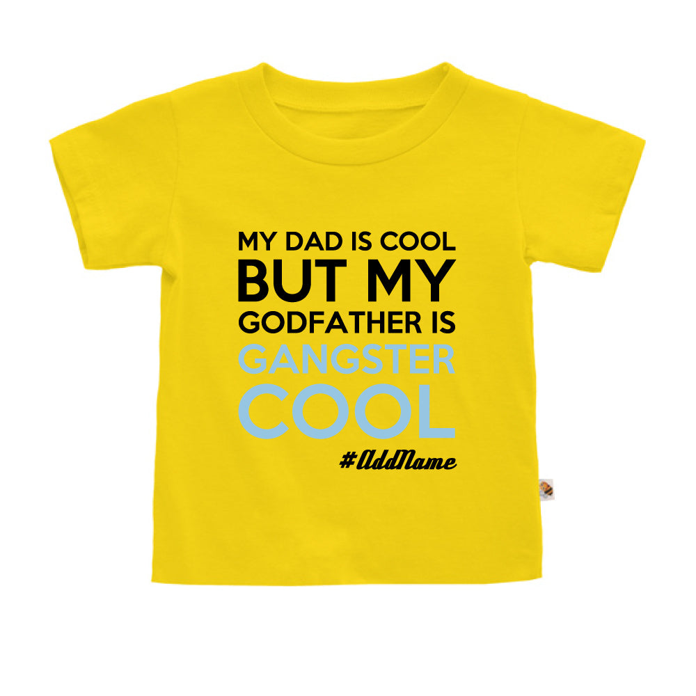 Teezbee.com - Gangster Cool Godfather - Kids-T (Yellow)