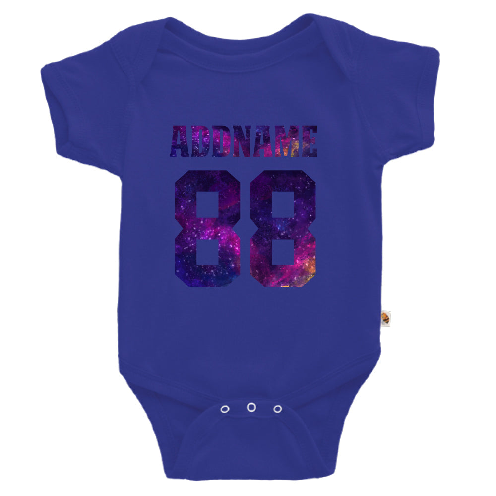 Teezbee.com - Galaxy Name with Number - Romper (Blue)
