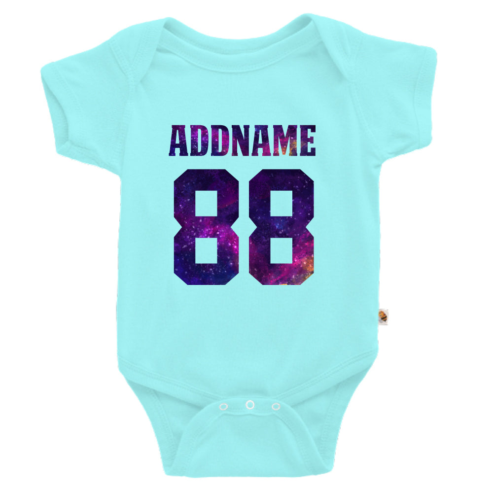 Teezbee.com - Galaxy Name with Number - Romper (Light Blue)