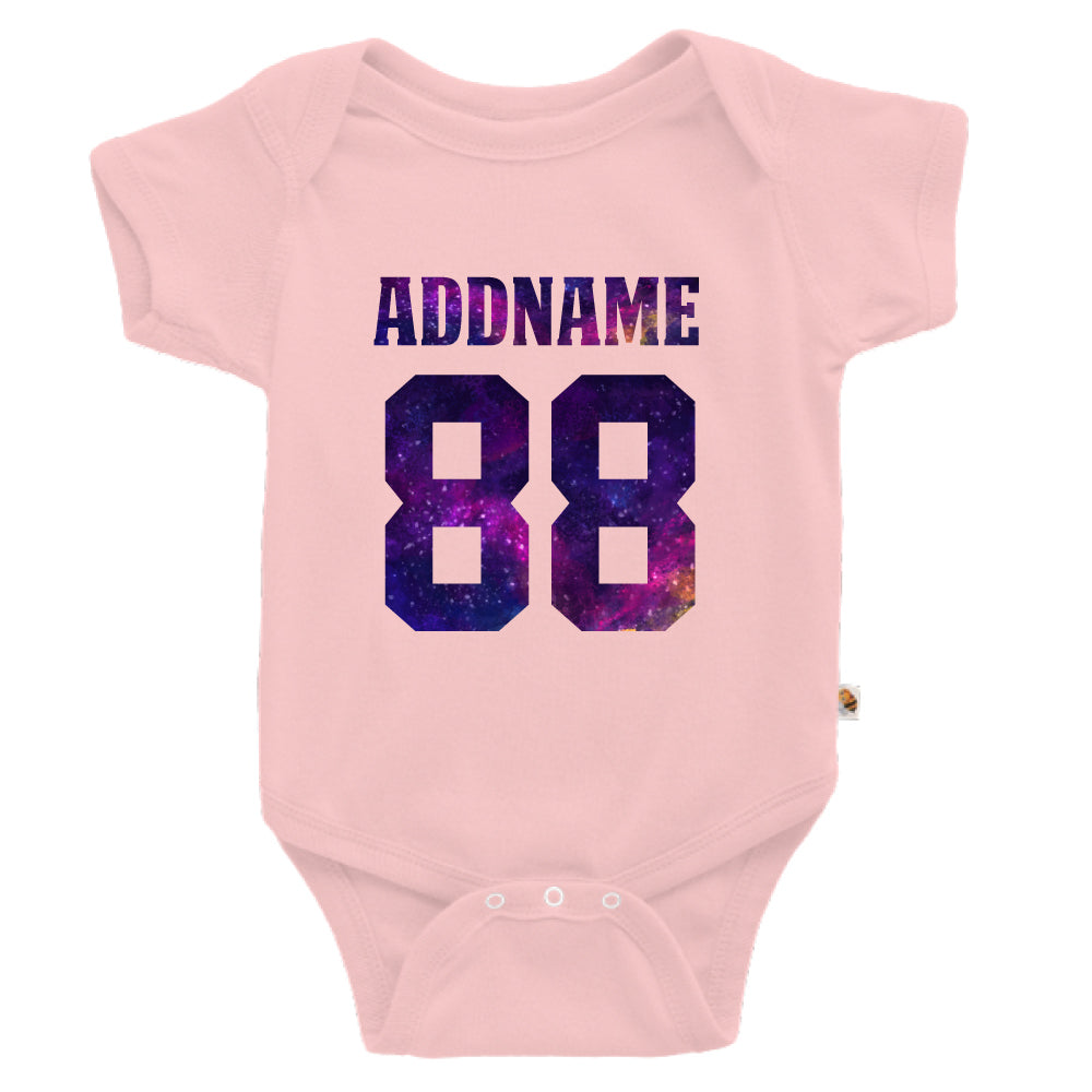 Teezbee.com - Galaxy Name with Number - Romper (Pink)