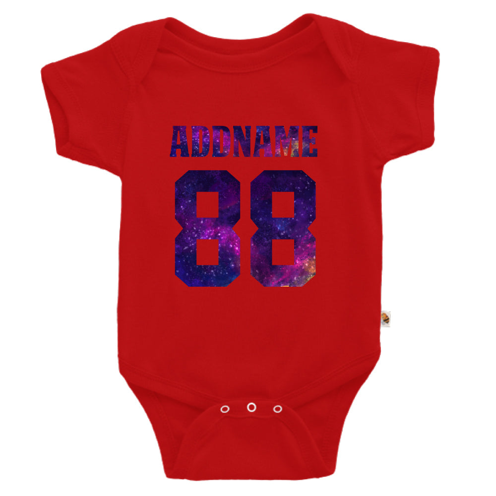 Teezbee.com - Galaxy Name with Number - Romper (Red)