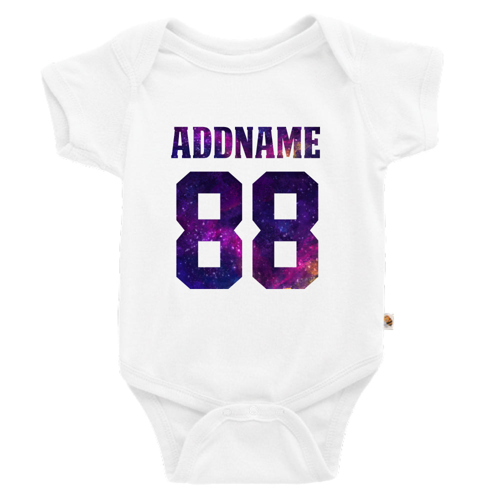 Teezbee.com - Galaxy Name with Number - Romper (White)