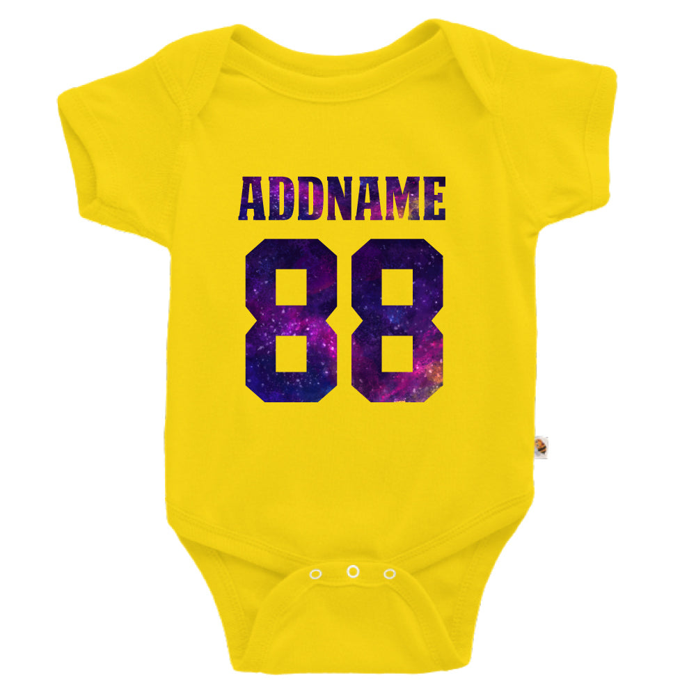 Teezbee.com - Galaxy Name with Number - Romper (Yellow)