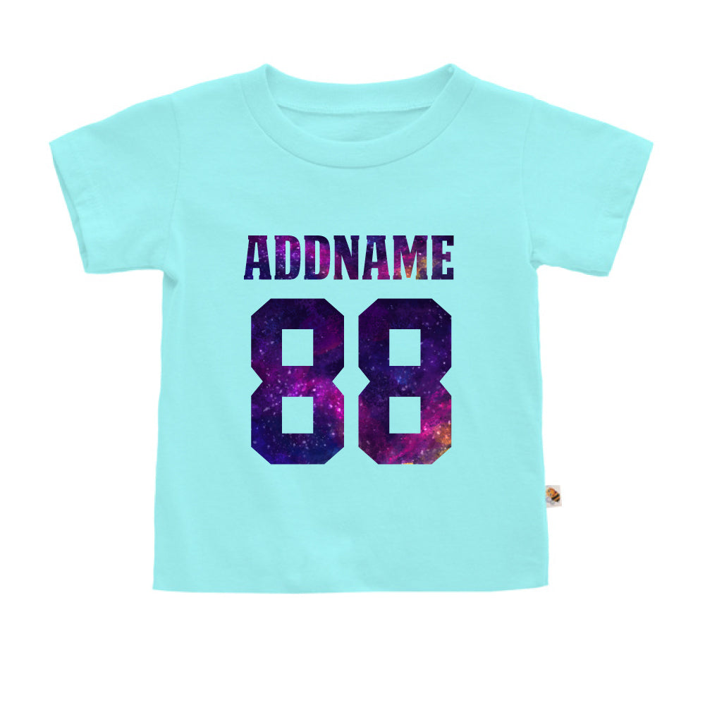 Teezbee.com - Galaxy Name with Number - Kids-T (Light Blue)