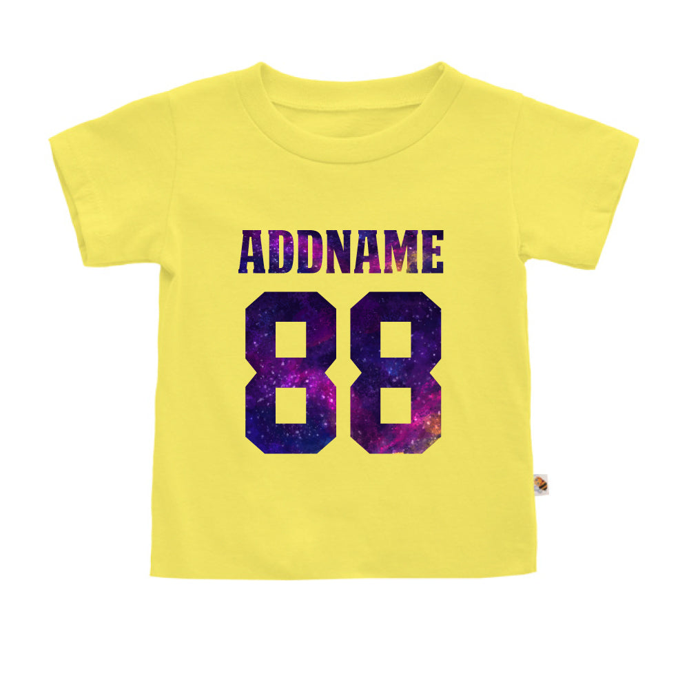 Teezbee.com - Galaxy Name with Number - Kids-T (Light Yellow)