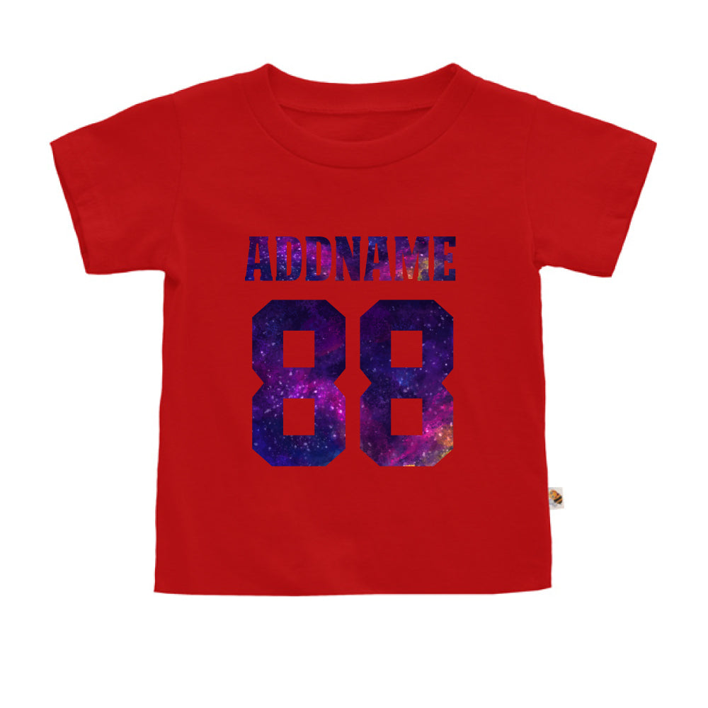 Teezbee.com - Galaxy Name with Number - Kids-T (Red)