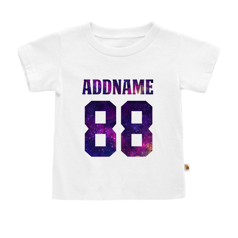 Teezbee.com - Galaxy Name with Number - Kids-T (White)