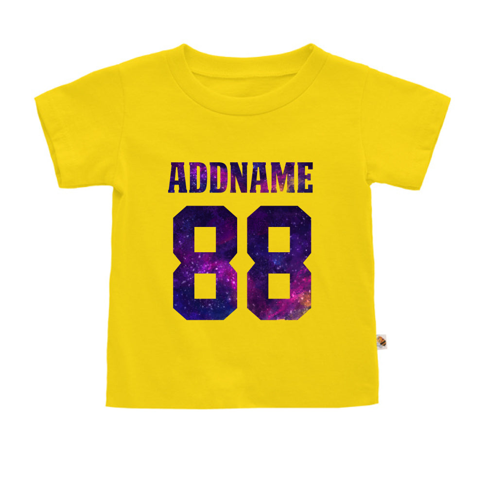 Teezbee.com - Galaxy Name with Number - Kids-T (Yellow)