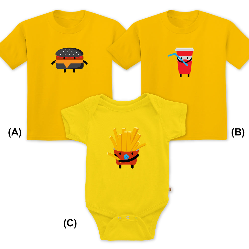Cute Fast Food Family Set