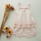 Babylah.com - Sweet Bowknot Sleeveless 2-piece Set