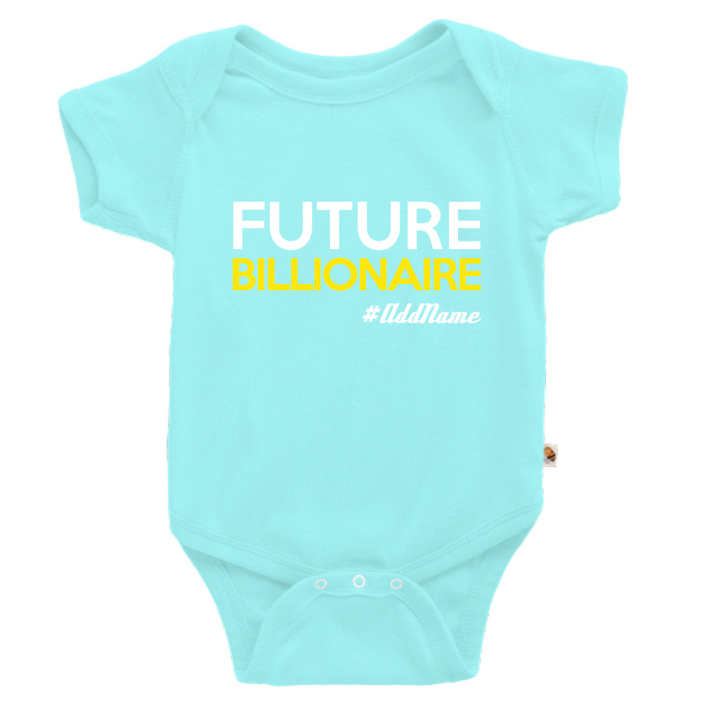 Teezbee.com - Future Billionaire - Romper (Light Blue)