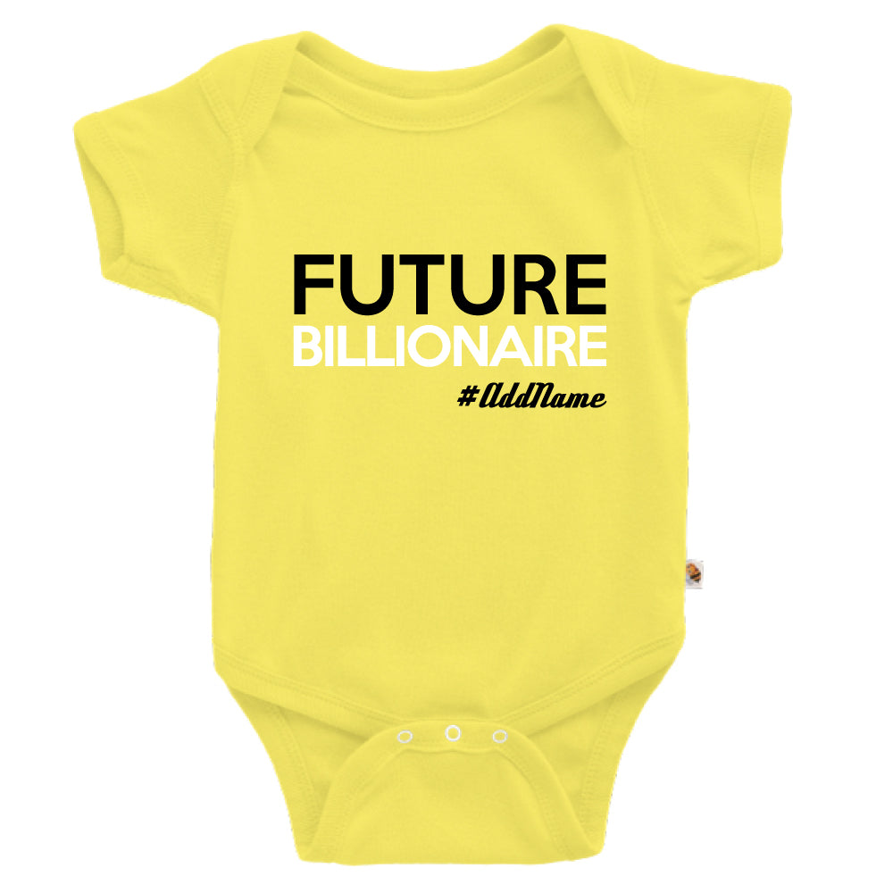 Teezbee.com - Future Billionaire - Romper (Light Yellow)