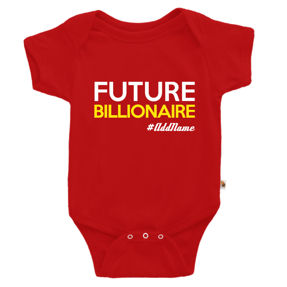 Teezbee.com - Future Billionaire - Romper (Red)