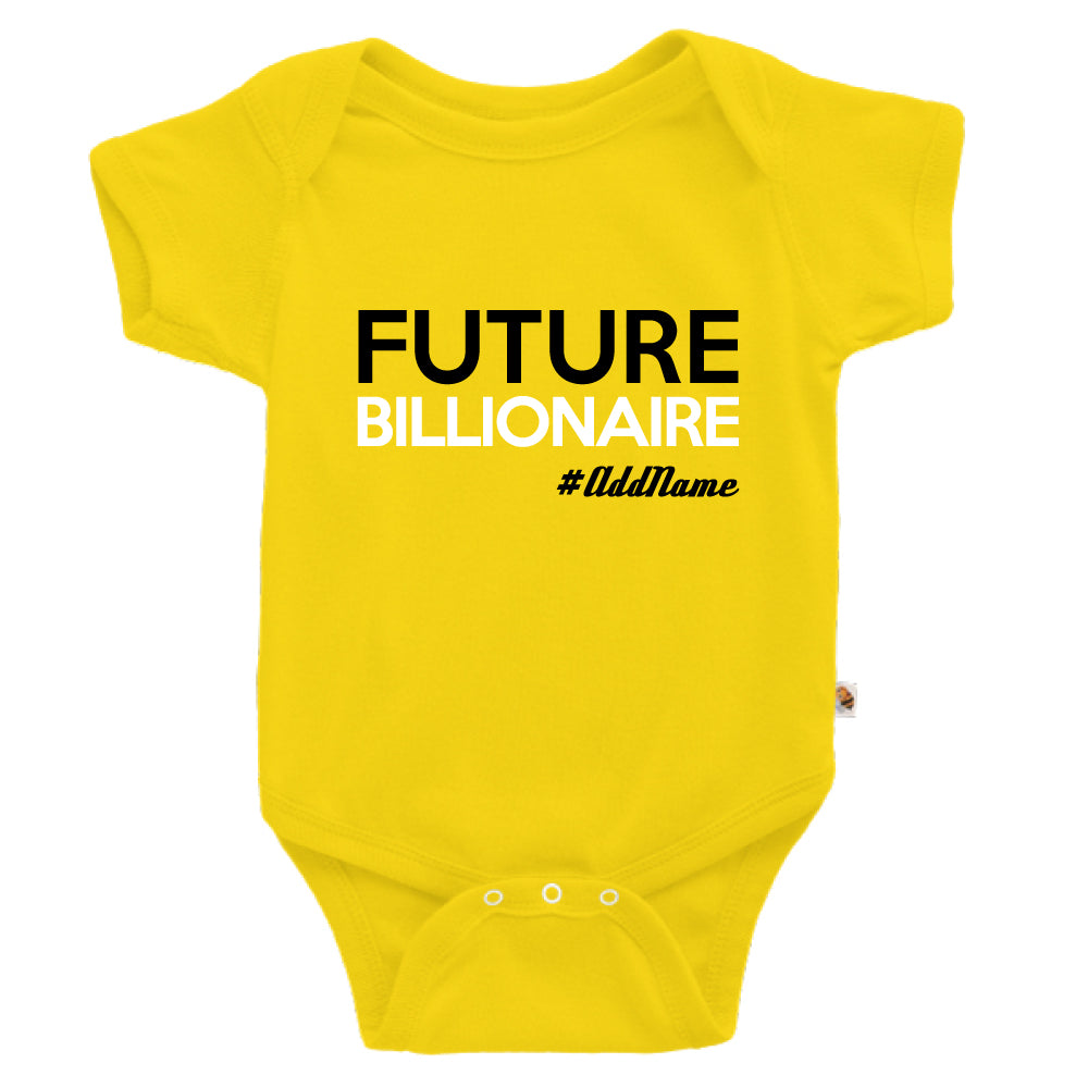 Teezbee.com - Future Billionaire - Romper (Yellow)
