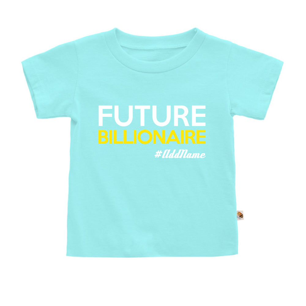 Teezbee.com - Future Billionaire - Kids-T (Light Blue)