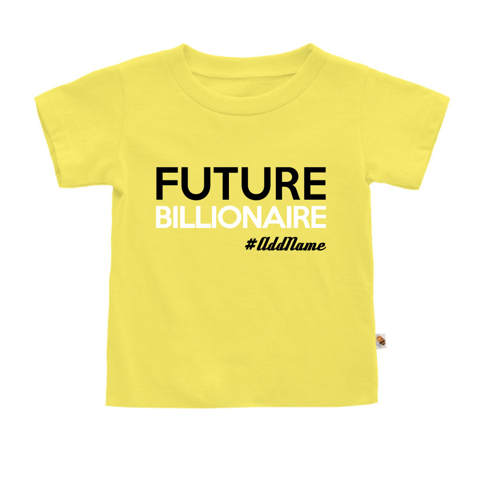 Teezbee.com - Future Billionaire - Kids-T (Light Yellow)