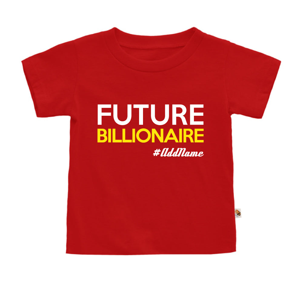 Teezbee.com - Future Billionaire - Kids-T (Red)
