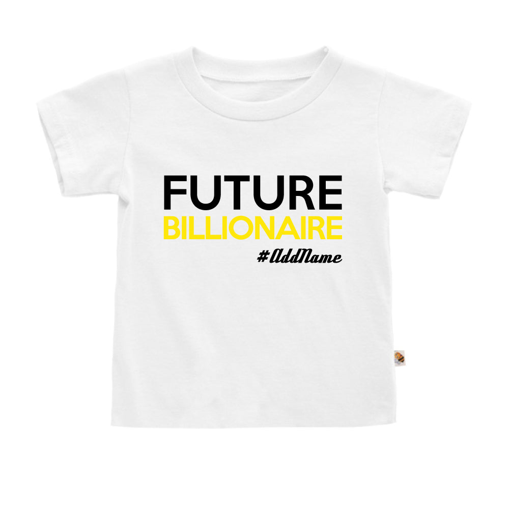 Teezbee.com - Future Billionaire - Kids-T (White)