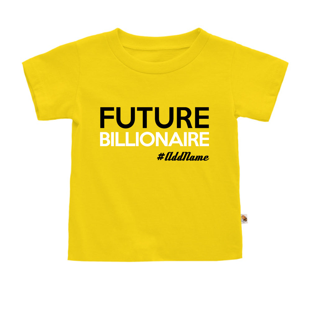 Teezbee.com - Future Billionaire - Kids-T (Yellow)