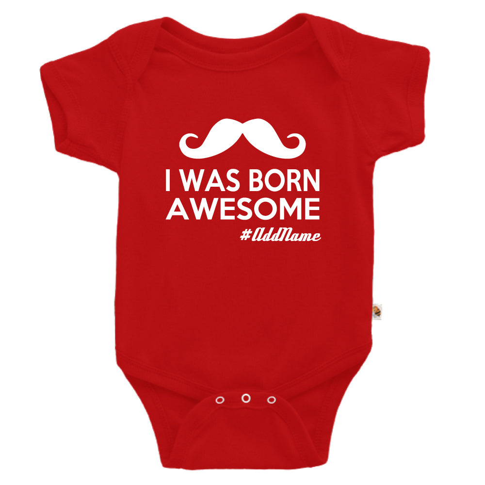 Teezbee.com - I Was Born Awesome - Romper (Red)