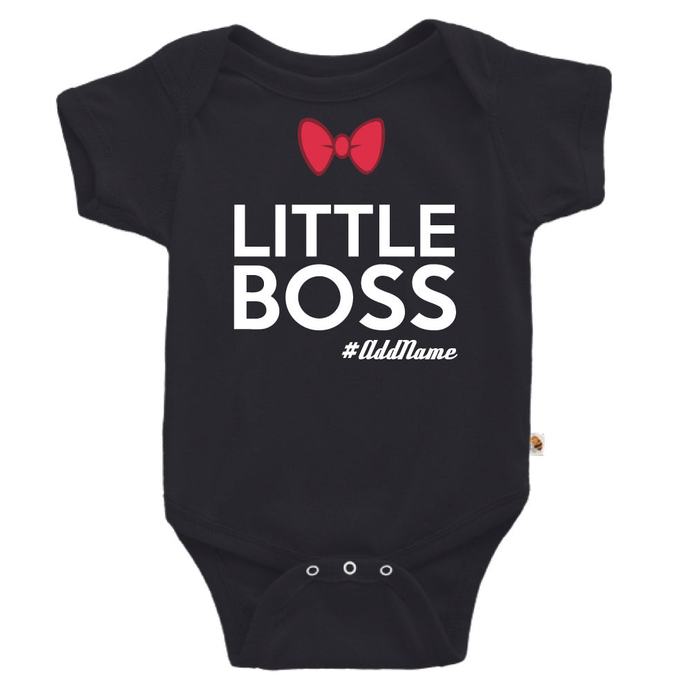 Teezbee.com - Little Boss - Romper (Black)