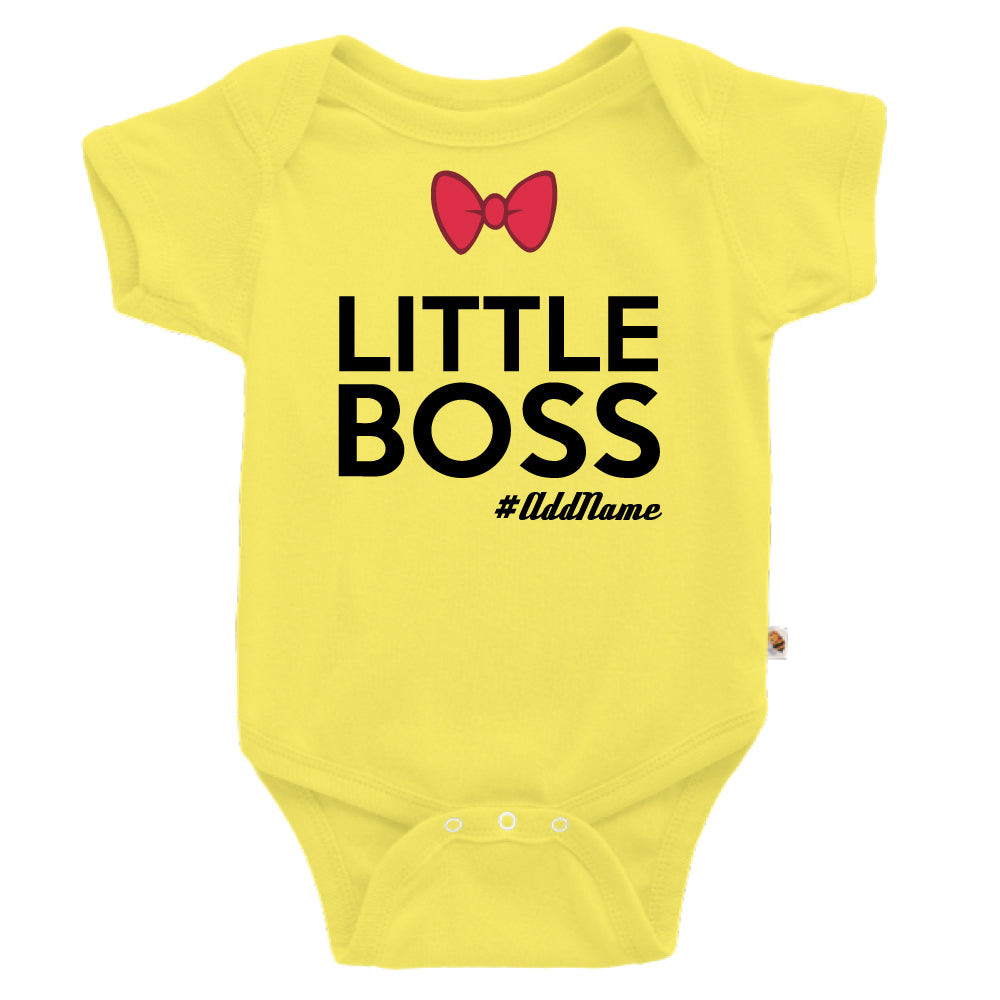 Teezbee.com - Little Boss - Romper (Light Yellow)
