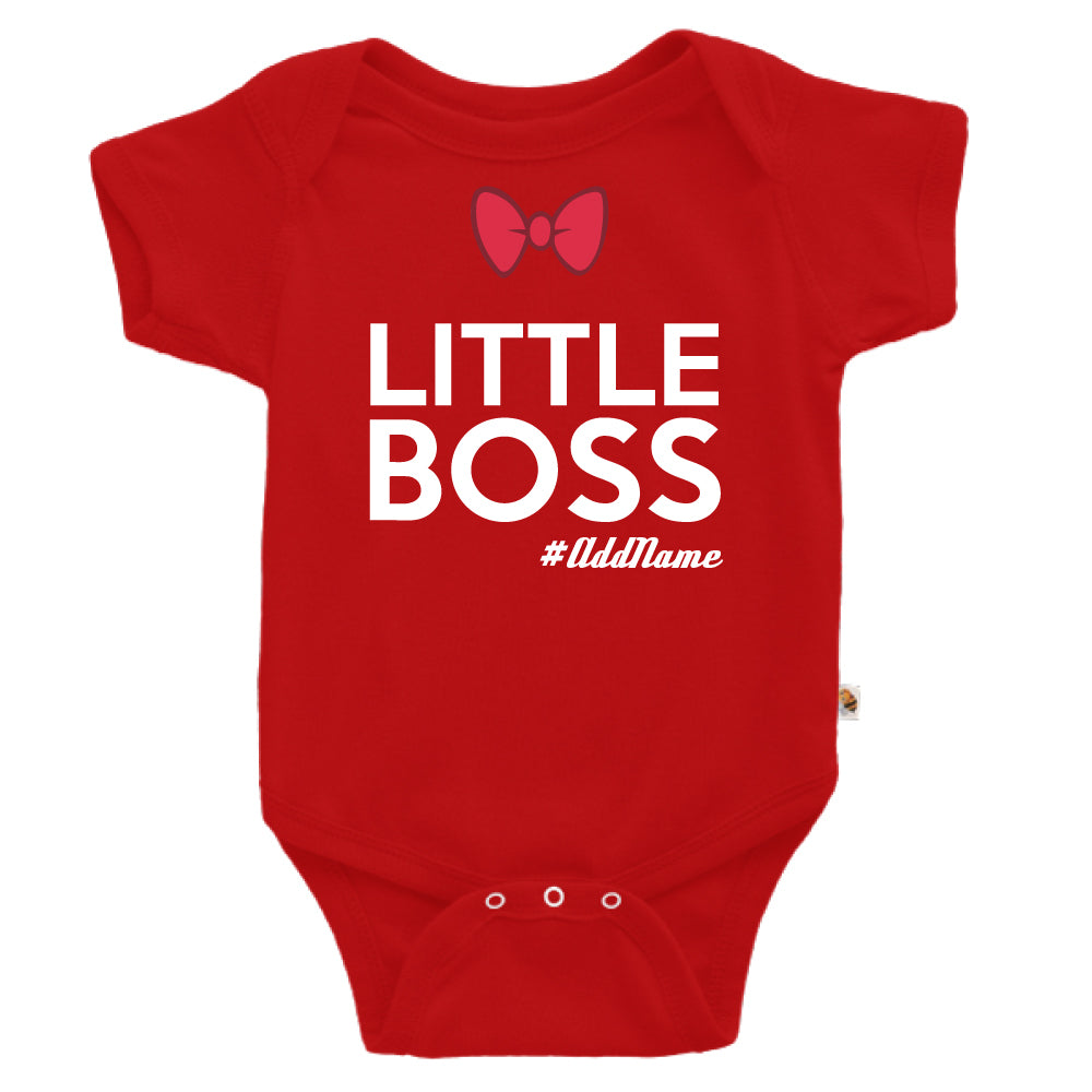 Teezbee.com - Little Boss - Romper (Red)