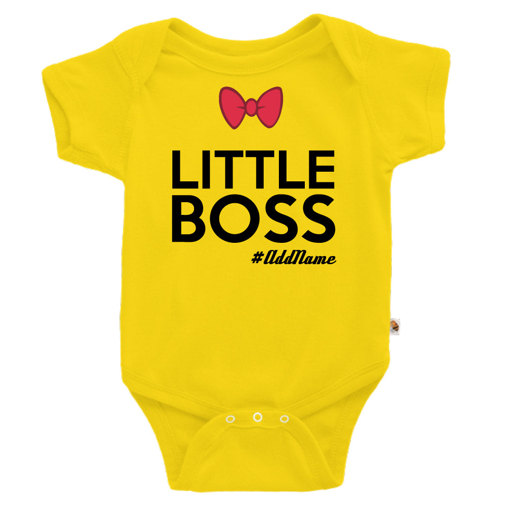 Teezbee.com - Little Boss - Romper (Yellow)