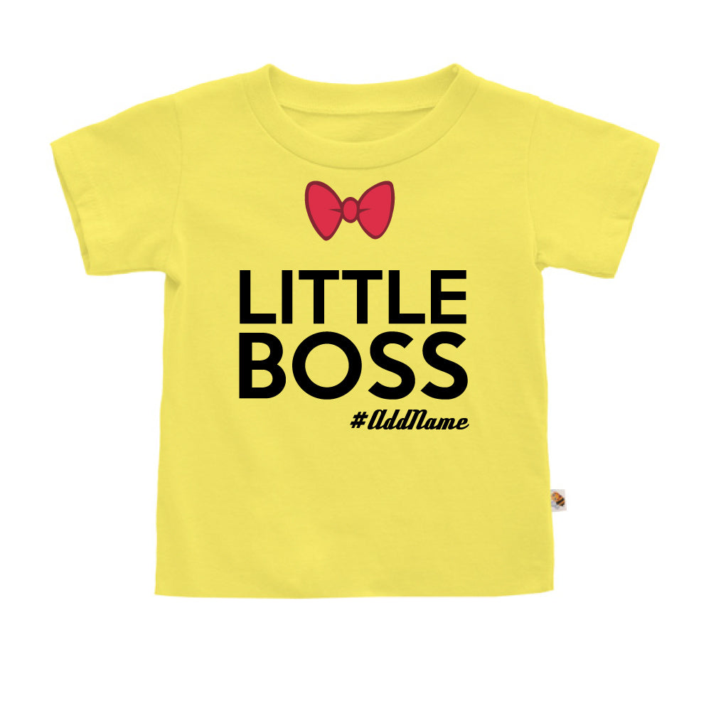 Teezbee.com - Little Boss - Kids-T (Light Yellow)