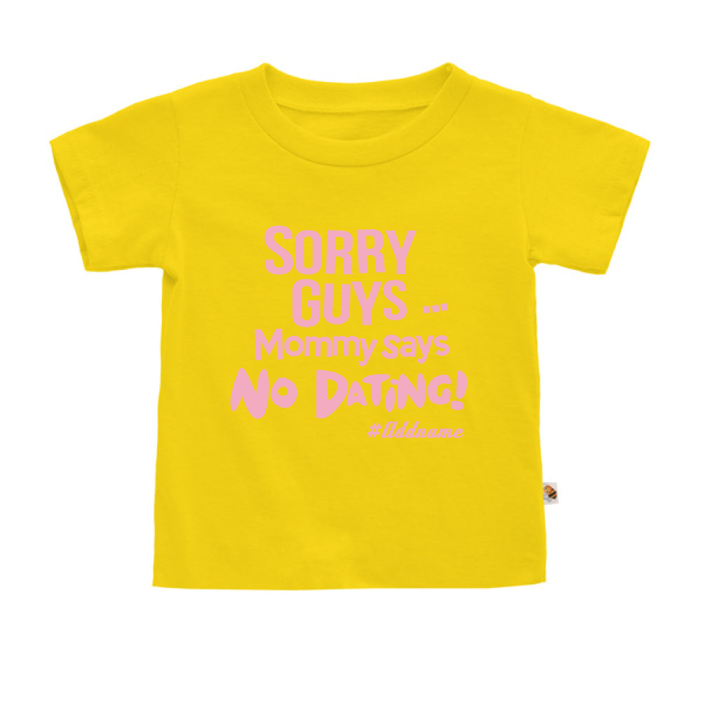 Teezbee.com - Mommy Says No Dating Guys - Kids-T (Yellow)