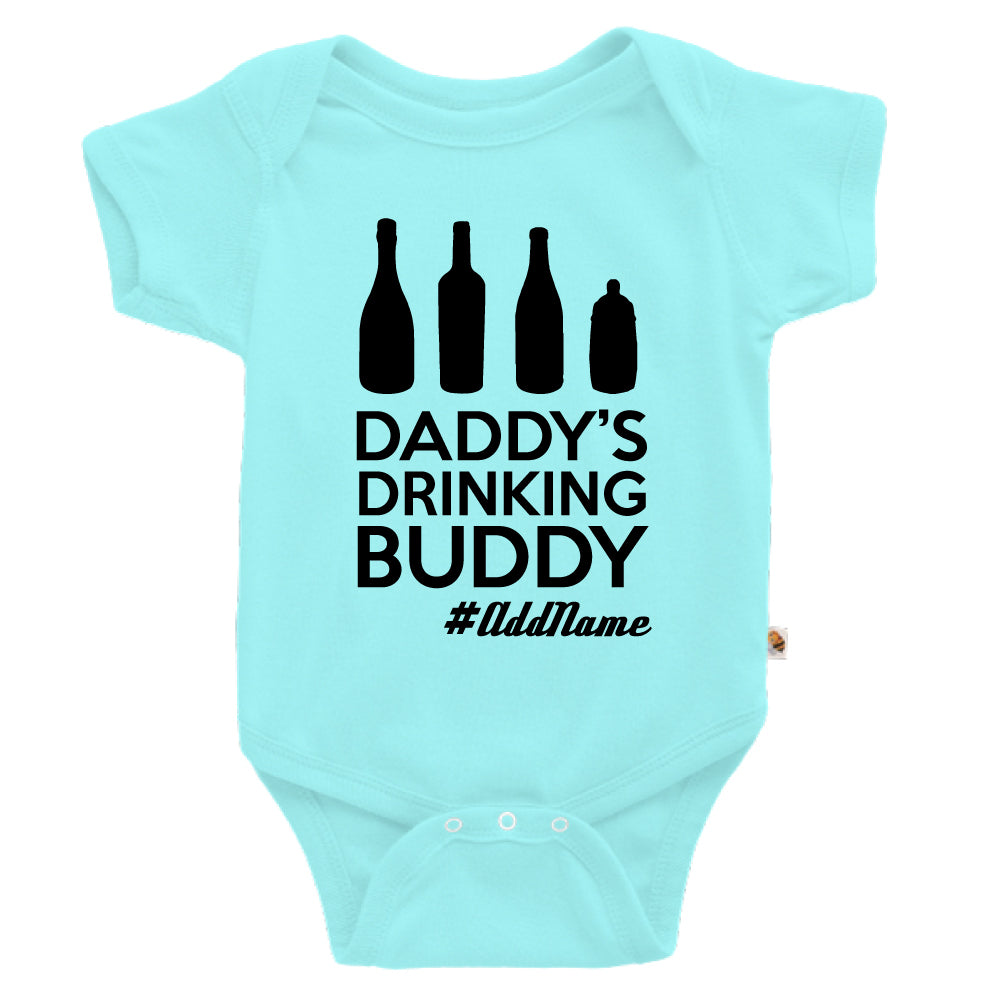 Teezbee.com - Daddy's Drinking Buddy - Romper (Light Blue)